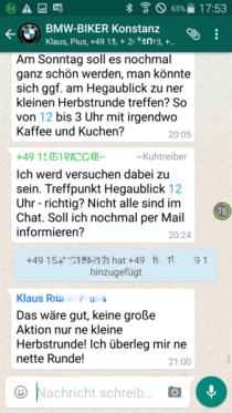 Screenshot von einer Smartphone-App